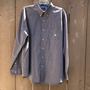 Chaps Button Up, Long-Sleeve EZ Care Shirt Sz XL